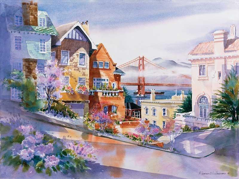 san francisco ladies 021 watercolors by richard